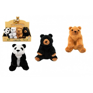 Medvěd sedící plyš 16cm 4 barvy 8ks v boxu 0m+ - Cena : 161,- Kč s dph