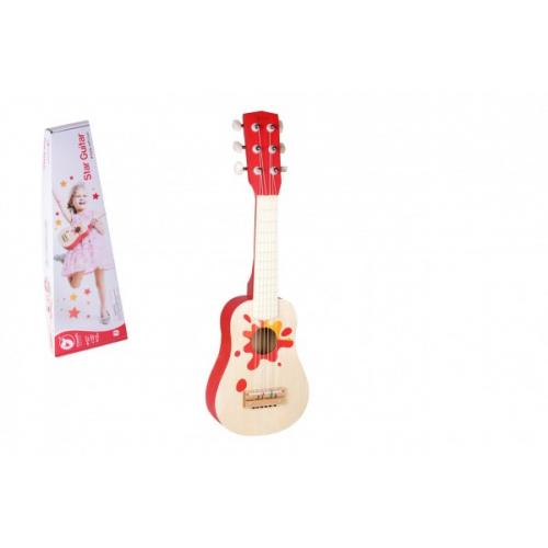 Kytara dřevo 52cm s trsátkem v krabici 56x19x7cm - Cena : 665,- Kč s dph