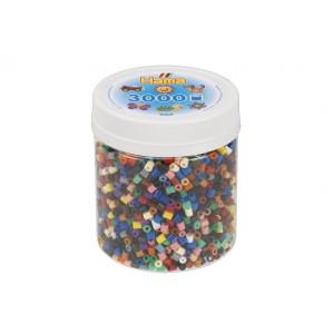 Korálky zažehlovací plast 3000ks v dóze - Cena : 196,- Kč s dph