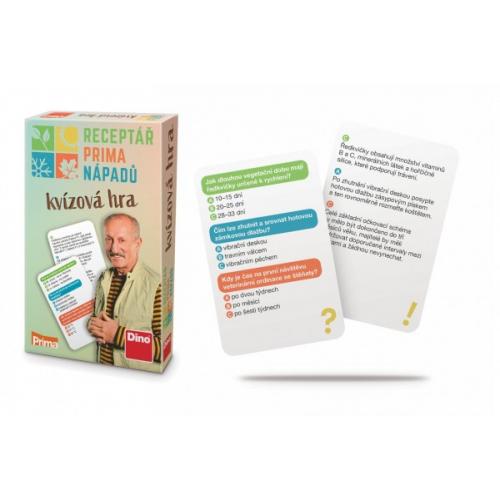 Receptář prima nápadů kvízová cestovní hra v krabičce 11,5x18x3,5cm - Cena : 206,- Kč s dph