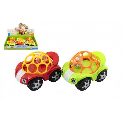 Auto pro nejmenší s míčkem 8x11cm 2 barvy 6ks v boxu - Cena : 89,- Kč s dph