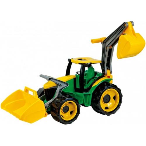 Traktor s lyžicou a bagrom - zeleno-žltý - Cena : 478,- Kč s dph