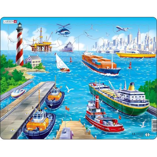 Puzzle Město + přístav 35 dílků - Cena : 169,- Kč s dph