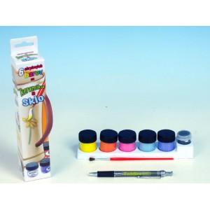 Akrylové barvy na keramiku a sklo- 6 barev - Cena : 79,- Kč s dph
