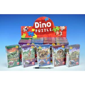 Puzzle Dinosauři  60 dílků + figurka - 6 druhů - Cena : 59,- Kč s dph