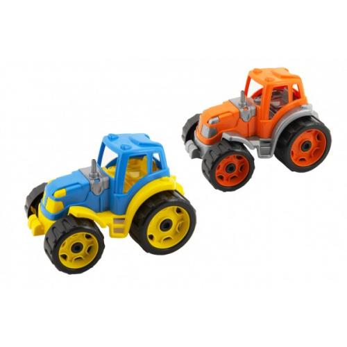 Traktor 24x16cm plast na volný chod 2 barvy 12m+ - Cena : 98,- Kč s dph
