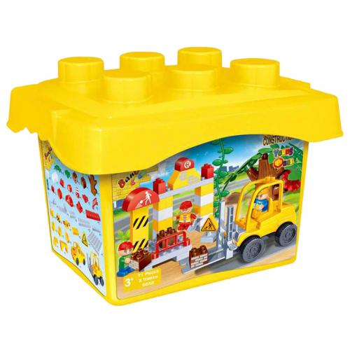 BanBao Staveniště 71ks + 3 figurky v plastovém boxu - Cena : 659,- Kč s dph