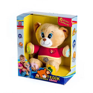 Medvěd Tedík mluvící plyš 30cm  25x30cm - Cena : 529,- Kč s dph