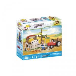 Cobi 1873 - Akční Město - Farma traktor a kráva - Cena : 199,- Kč s dph