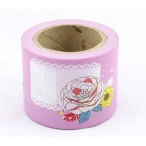 Dekorační lepicí páska - WASHI pásky-1ks růžové popisky, 10 m x 38 mm - Cena : 99,- Kč s dph
