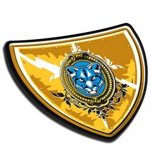 Středověký štít - žlutý - Cena : 119,- Kč s dph