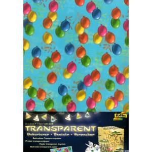 Průhledný papír s potiskem- Balónky - 5 ks - Cena : 85,- Kč s dph