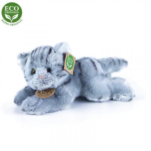 Plyšová kočka šedá ležící 30 cm ECO-FRIENDLY - Cena : 337,- Kč s dph