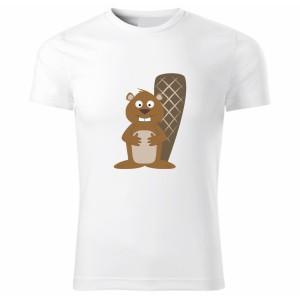 Tričko Veselá zvířátka - Bobr, vel. 122 cm/6 let - Cena : 249,- Kč s dph