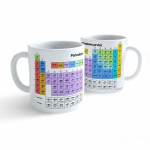Hrnek Chemie - Periodická soustava prvků - Cena : 129,- Kč s dph