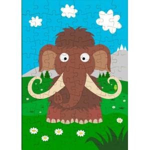 Puzzle Veselá zvířátka - Mamut - 88 dílků - Cena : 89,- Kč s dph
