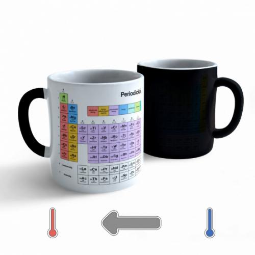 Meniace hrnček Chémia - Periodická sústava prvkov - 330ml - Cena : 179,- Kč s dph
