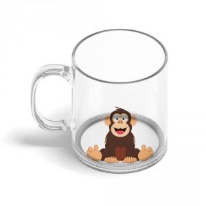 Skleněný hrnek Veselá zvířátka - Šimpanz - 330ml - Cena : 149,- Kč s dph