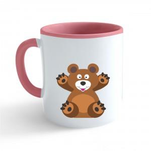 Hrnek Veselá zvířátka - Medvídek - růžový 330ml - Cena : 169,- Kč s dph