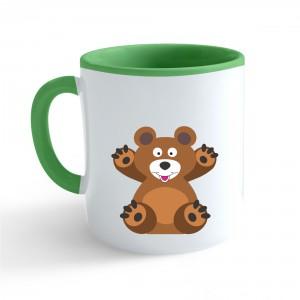 Hrnek Veselá zvířátka - Medvídek - zelený 330ml - Cena : 169,- Kč s dph