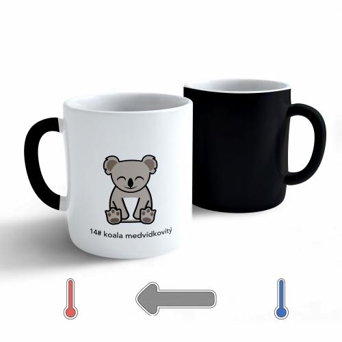 Měnící hrnek Tučňák a jeho kamarádi - #14 koala medvídkovitý - 330ml - Cena : 179,- Kč s dph