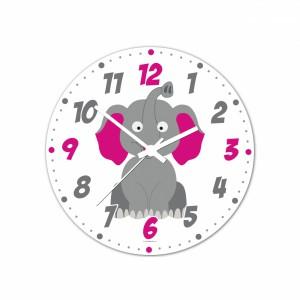 Nástenné hodiny Veselá zvieratká - Sloník - 30 cm - Cena : 499,- Kč s dph