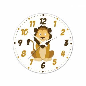 Nástenné hodiny Veselá zvieratká - Levík - 30 cm - Cena : 499,- Kč s dph
