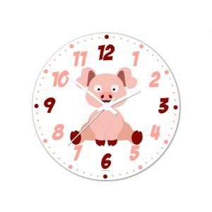 Nástenné hodiny Veselá zvieratká - Prasiatko - 30 cm - Cena : 499,- Kč s dph