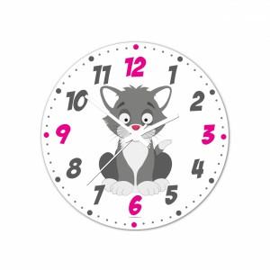 Nástenné hodiny Veselá zvieratká - Kocourek - 30 cm - Cena : 499,- Kč s dph