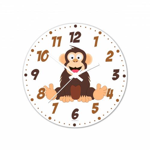 Nástenné hodiny Veselá zvieratká - Šimpanz - 20 cm - Cena : 289,- Kč s dph