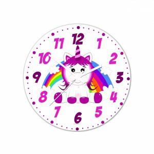 Nástenné hodiny Veselá zvieratká - Jednorožec - 30 cm - Cena : 499,- Kč s dph