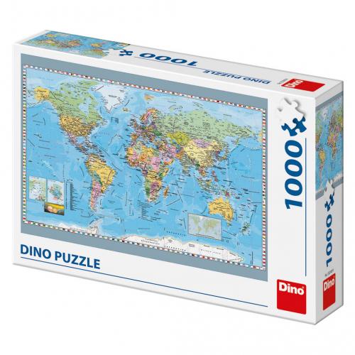 Puzzle Politická mapa světa 1000D - Cena : 299,- Kč s dph