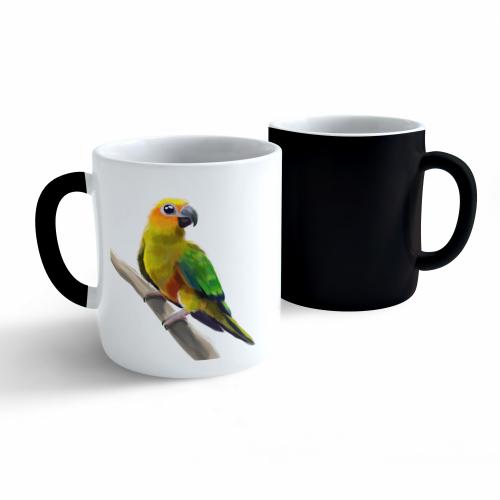 Měnící hrnek Malovaná zvířatka - Papoušek - 330ml - Cena : 179,- Kč s dph