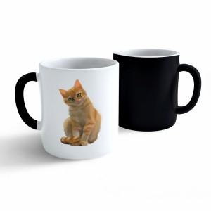 Měnící hrnek Malovaná zvířatka - Kočička - 330ml - Cena : 149,- Kč s dph