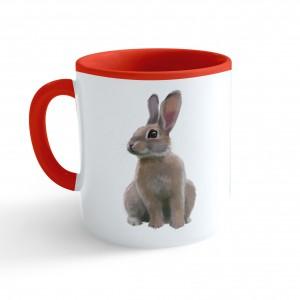 Hrnček Maľovaná zvieratká - Zajačik - červený 330ml - Cena : 169,- Kč s dph