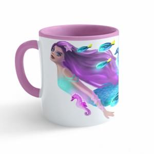 Hrnek Pohádky - Mořská panna - růžový 330ml - Cena : 149,- Kč s dph