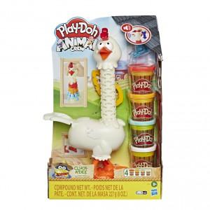 Play-Doh kvokající kuře s peřím - Cena : 394,- Kč s dph