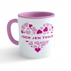 Hrnek Valentýn - Jsem jen tvoje #3 - růžový 330ml - Cena : 129,- Kč s dph
