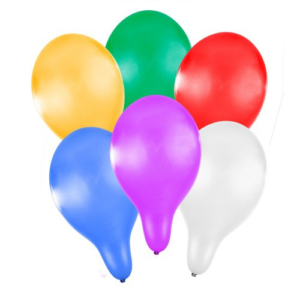 Nafukovací balónky metalické 27cm - 6 ks - Cena : 29,- Kč s dph