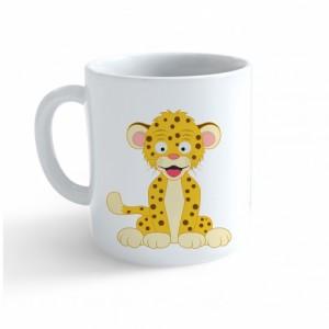 Hrnek Veselá zvířátka - Leopard - Cena : 99,- Kč s dph