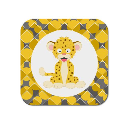 Podtácek Veselá zvířátka - Leopard - Cena : 29,- Kč s dph