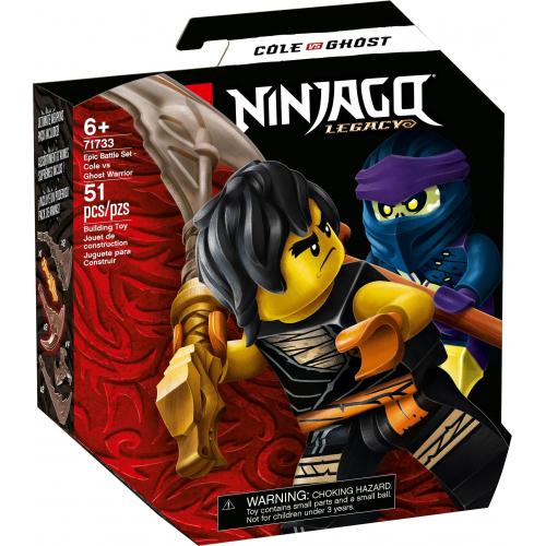 LEGO® Ninjago 71733 -  Epický souboj – Cole vs. přízračný válečník - Cena : 199,- Kč s dph