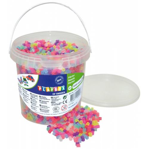 Zažehlovací korálky se třpytky, kbelík - 5000 ks - Cena : 290,- Kč s dph