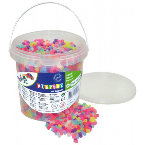 Zažehlovací korálky se třpytky, kbelík - 5000 ks - Cena : 299,- Kč s dph