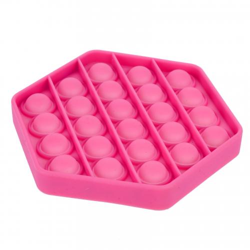 Bubble pops silikon antistresová společenská hra 11x11cm - růžová - Cena : 152,- Kč s dph