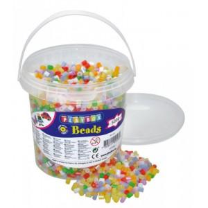 Zažehlovací korálky- 5000 ks korálků- kbelík, perleťové barvy - Cena : 199,- Kč s dph