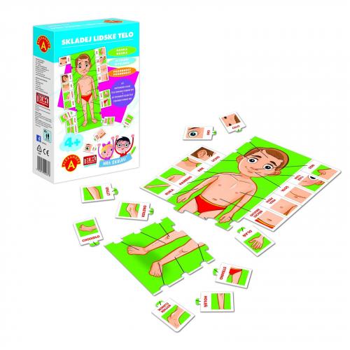 Hra školou® Skladaj ľudské telo kreatívne a náučná hra - Cena : 144,- Kč s dph