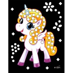 Třpytivý mozaikový obrázek - Jednorožci - Cena : 25,- Kč s dph