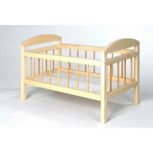 Postýlka pro panenky dřevo velká 58,5x33x37,5 cm - Cena : 438,- Kč s dph