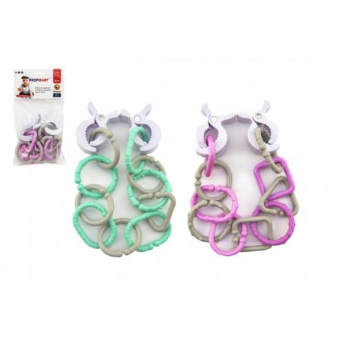 Řetěz/zábrana plast 43cm 4 barvy v sáčku 14x25x5cm 0m+ - Cena : 251,- Kč s dph